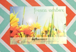 A postcard featuring brief description of the products in the Fresca Voxbox